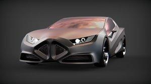 concept design car 3D model