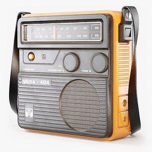 3D vintage portable radio