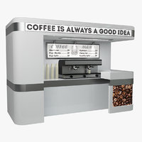 coffee sale point 3D