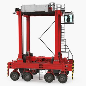 kalmar hybrid straddle carrier 3D model