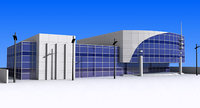 3D office building architecture model