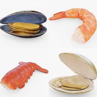 3D seafood food model