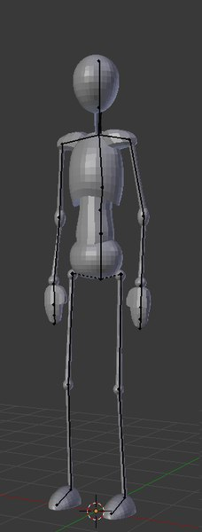3D model pose dummy scalable