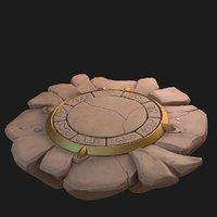 fantasy platform 3D model