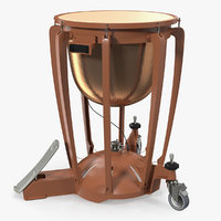 3D copper timpani model