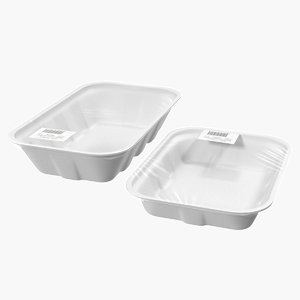 wrapped food trays 3D model