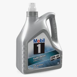 3D 4l mobil motor oil bottle model