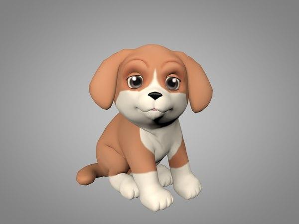 3D puppy pup model