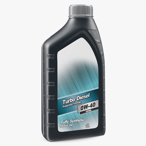 bottle car oil 1l 3D model