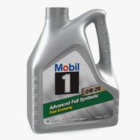 3D mobil motor oil 4l model