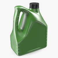 motor oil green bottle plastic 3D model