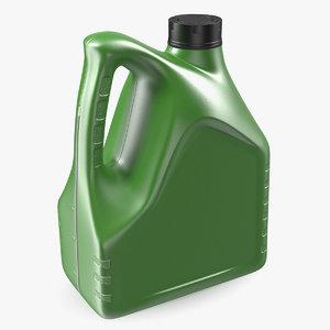 motor oil green bottle plastic 3D model
