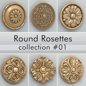 rosette cnc intagli3d model