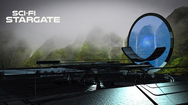 stargate structure 3D model