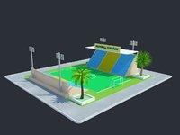 Cartoon Football Stadium