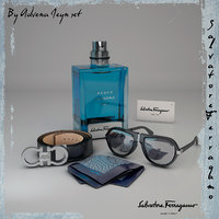 men s accessories ferragamo 3D