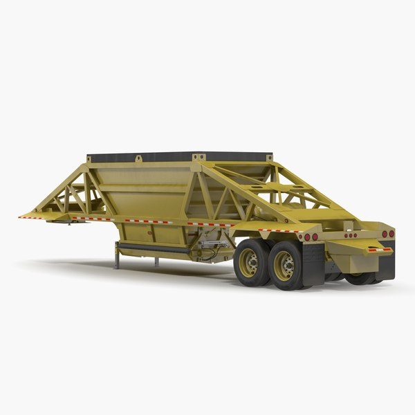belly dump trailer rigged model
