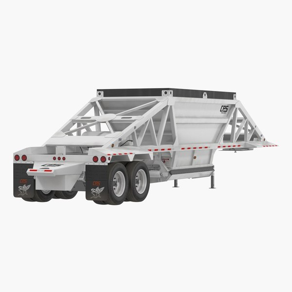 manac belly dump trailer 3D model
