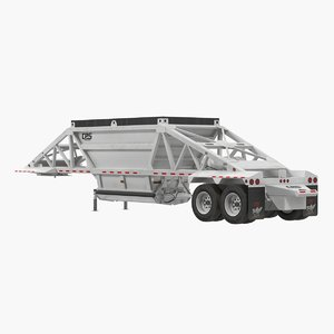 3D model manac dump trailer