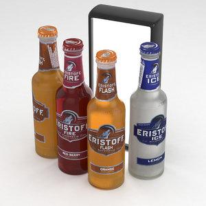 3D alcohol bottle