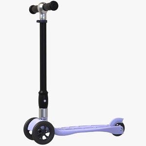 kick scooter 3 wheels 3D model
