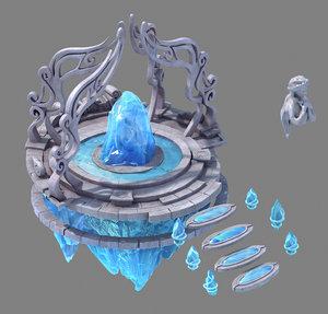 glacier ancient land - model
