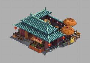 beijing city - grocery store model