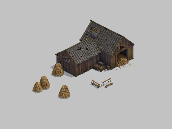 warehouse - barn 32 3D model