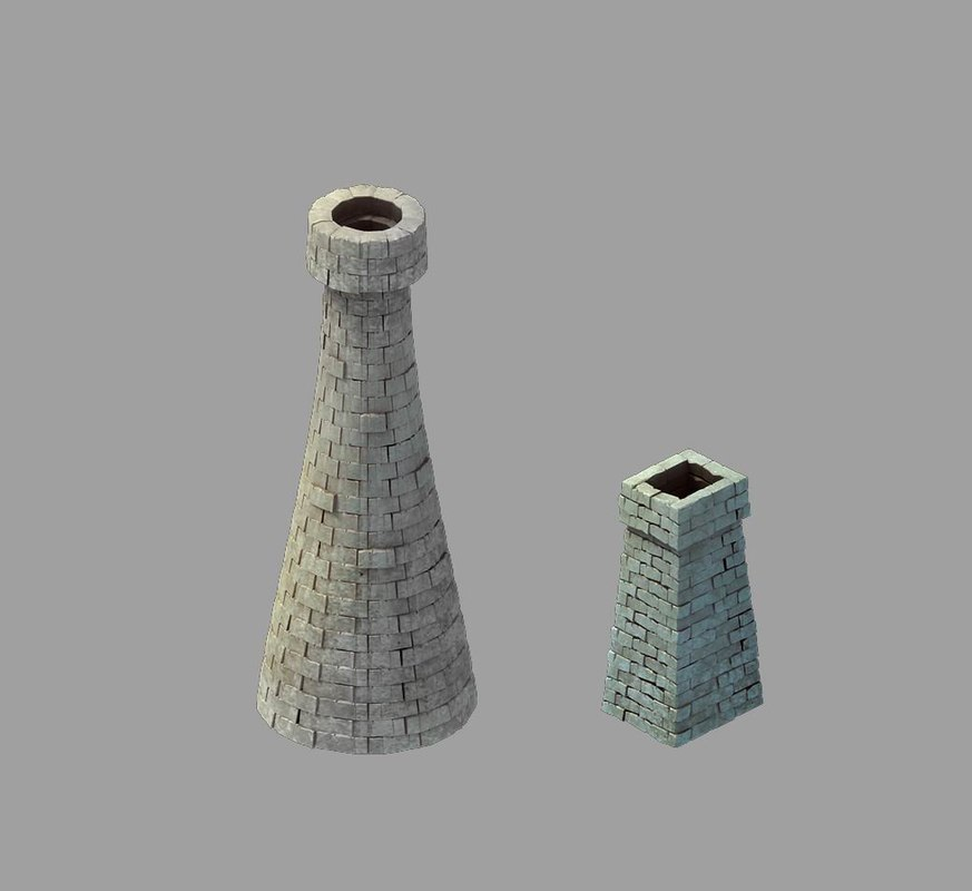3D rainbow city - chimney
