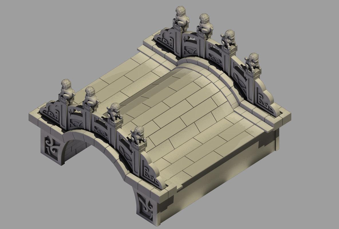 3D beijing architecture - stone