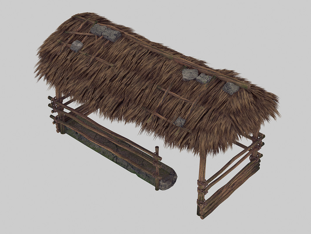 straw shed - stables 3D model