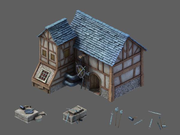 rainbow city - blacksmith 3D