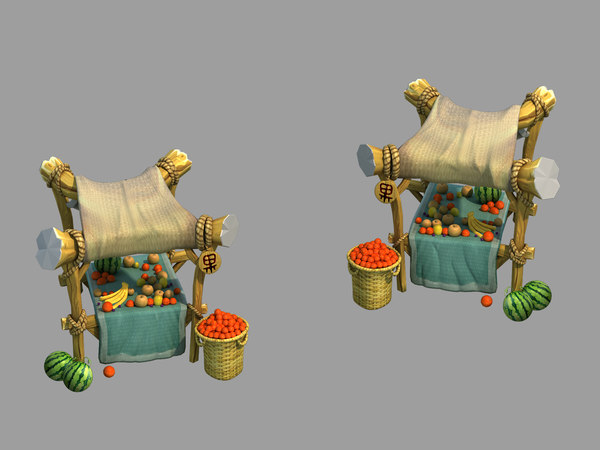 city - premium fruit 3D model