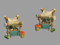 city - premium fruit 3D model