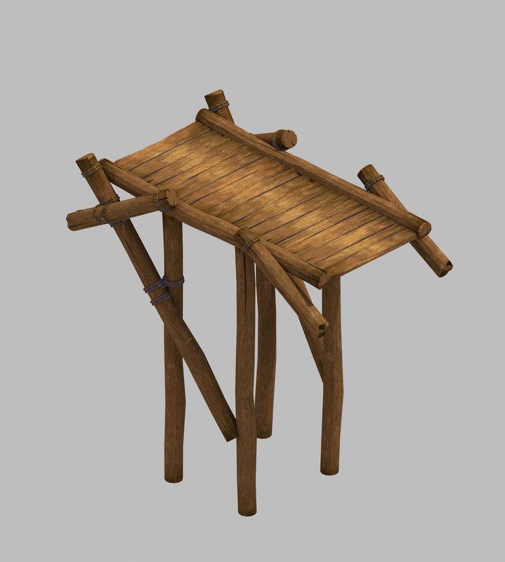 city gate - wooden bridge 3D