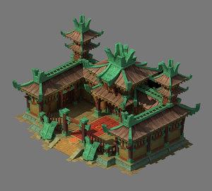 3D city building - military model