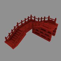 3D tripitaka house - stairs