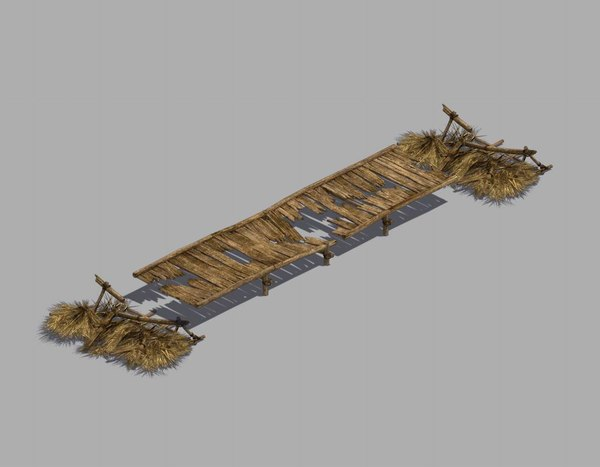 3D broken - wooden bridge