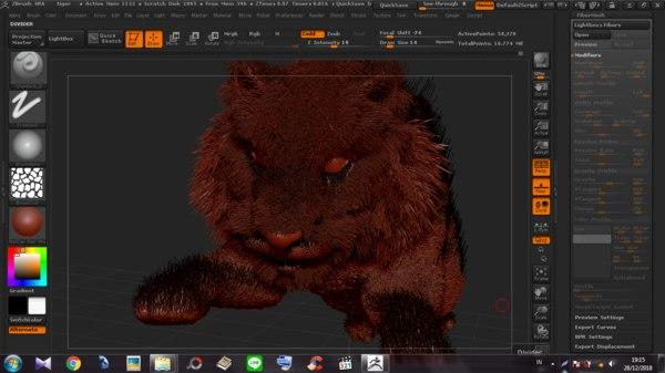3D tiger cat model
