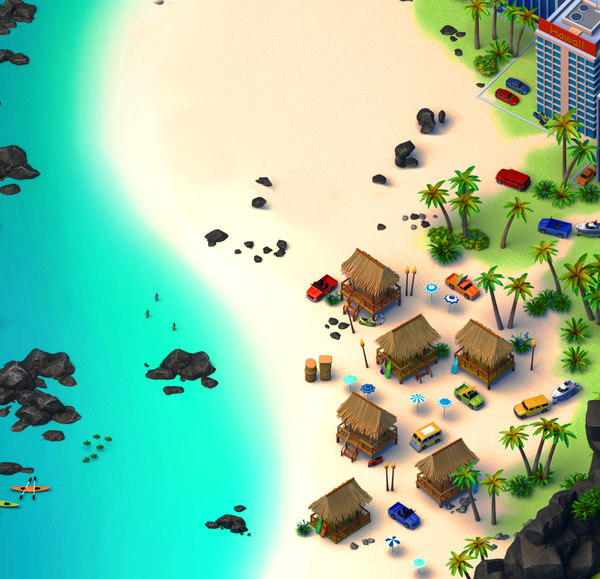 3D island beach model
