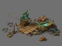 city - turtle farm 3D model