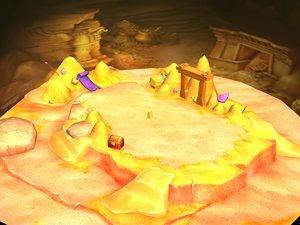 3D low-mode - desert underground model