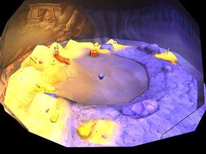 3D low-mode - desert underground
