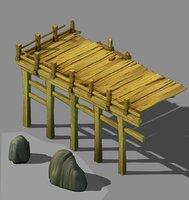 3D city - wood platform