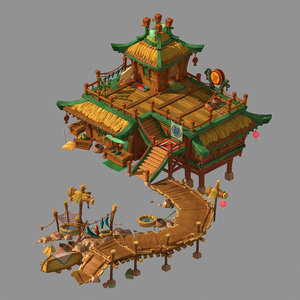 3D city - dock model