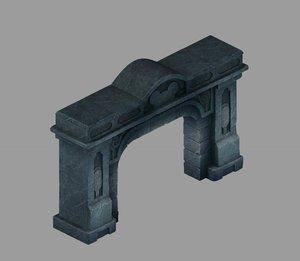 palace - shimen 02 3D model