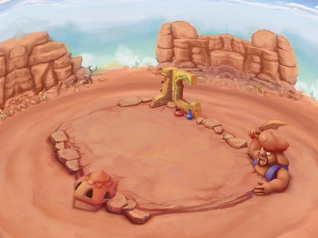3D modal - aladdin desert