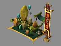 3D city - kistler booth model