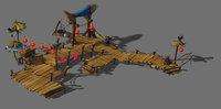 city - pier 32 3D model