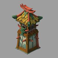 3D city - station sentinel model